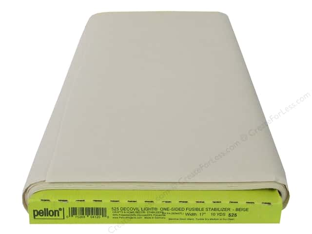 "Pellon Stabilizer Decovil Light Fusible 17""x 10yd Beige (10 yards)"