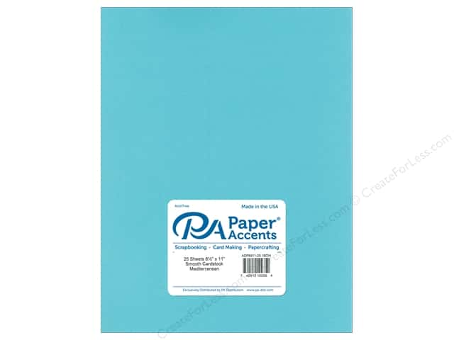 Paper Accents Cardstock 8 1/2  x 11 in. #18034 Smooth Mediterranean 25 pc.