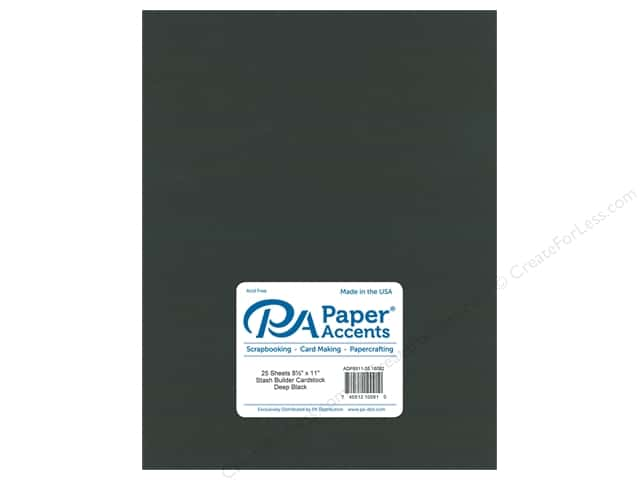 Paper Accents Cardstock 8 1/2 x 11 in. #18082 Stash Builder Deep Black (25 sheets)