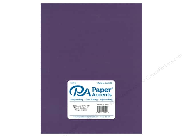 Paper Accents Cardstock 8 1/2 x 11 in. #8093 Muslin Purple Majesty (25 sheets)
