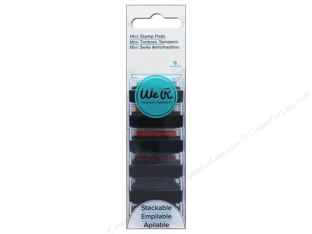 We R Memory Keepers Mini Ink Pad Set 6 pc.