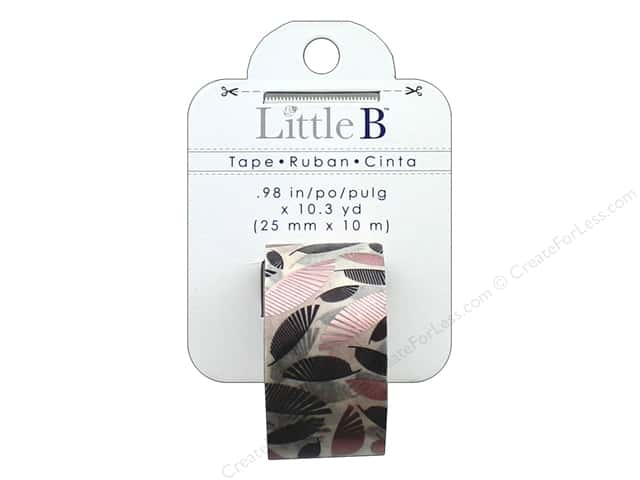 Little B Decorative Paper Tape 1 in. Rose Gold Foil Palms