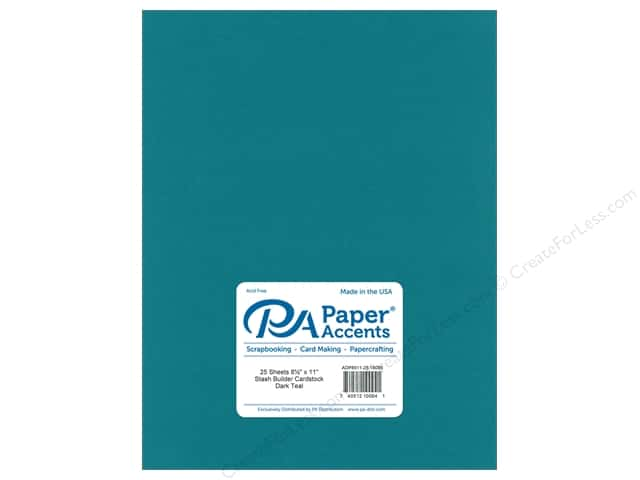 Paper Accents Cardstock 8 1/2 x 11 in. #18095 Stash Builder Dark Teal (25 sheets)