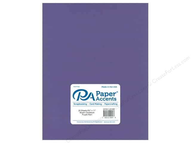 Paper Accents Cardstock 8 1/2 x 11 in. #8096 Muslin Purple Rain (25 sheets)