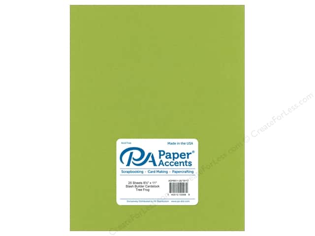 Paper Accents Cardstock 8 1/2 x 11 in. #18117 Stash Builder Tree Frog (25 sheets)