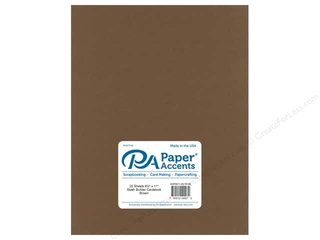 Paper Accents Cardstock 8 1/2 x 11 in. #18100 Stash Builder Brown (25 sheets)