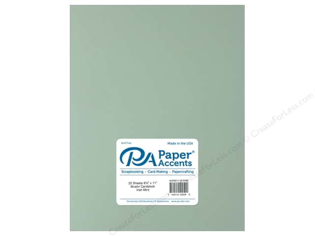 Paper Accents Cardstock 8 1/2 x 11 in. #8098 Muslin Irish Mint (25 sheets)