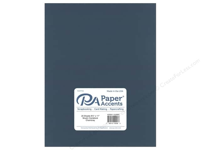 Paper Accents Cardstock 8 1/2 x 11 in. #8097 Muslin Chambray (25 sheets)