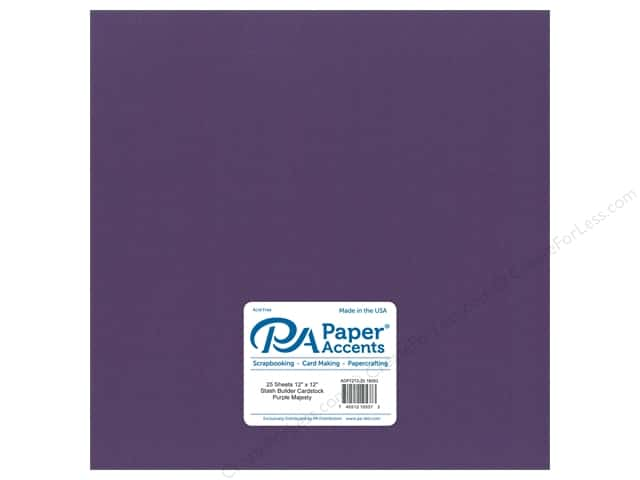 Paper Accents Cardstock 12 x 12 in. #18093 Stash Builder Purple Majesty (25 sheets)