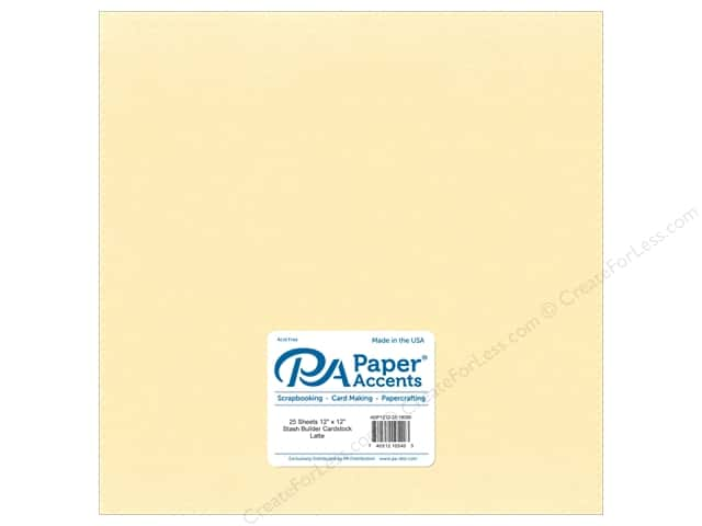 Paper Accents Cardstock 12 x 12 in. #18099 Stash Builder Latte (25 sheets)