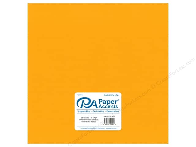 Paper Accents Cardstock 12 x 12 in. #18118 Stash Builder School Bus Yellow (25 sheets)