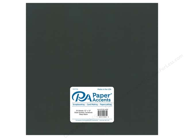 Paper Accents Cardstock 12 x 12 in. #18082 Stash Builder Deep Black (25 sheets)