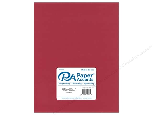 Paper Accents Cardstock 8 1/2 x 11 in. #8107 Muslin Crimson (25 sheets)