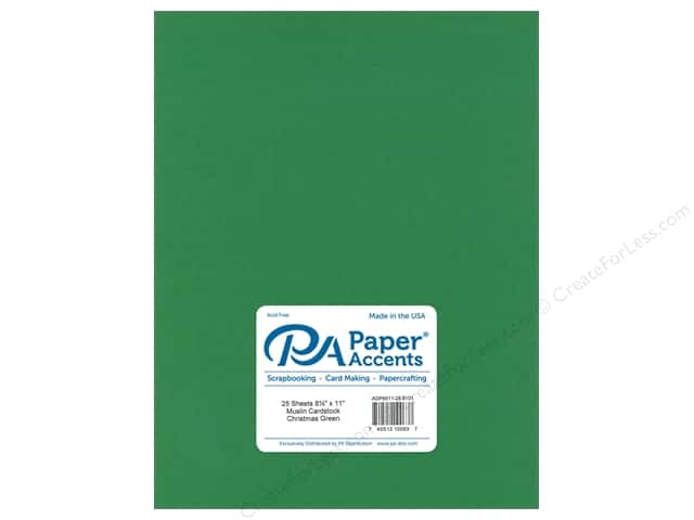 Paper Accents Cardstock 8 1/2 x 11 in. #8101 Muslin Christmas Green (25 sheets)