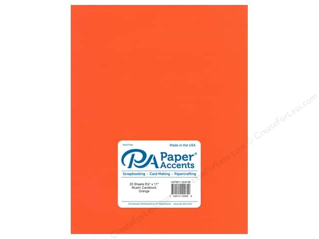 Paper Accents Cardstock 8 1/2 x 11 in. #8109 Muslin Orange (25 sheets)