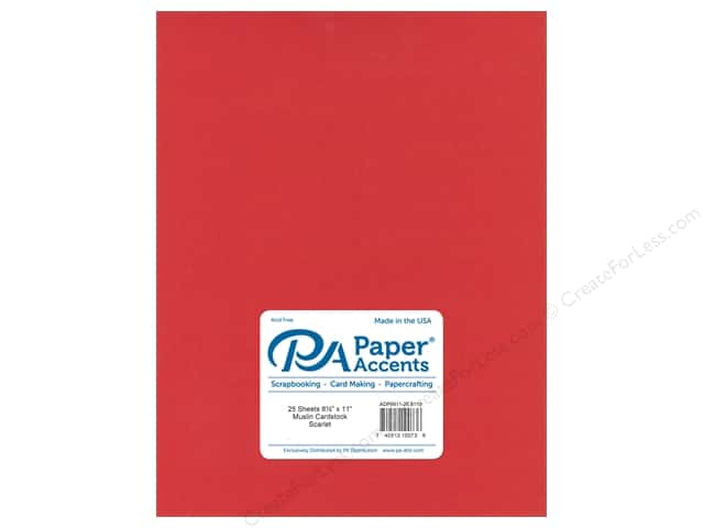 Paper Accents Cardstock 8 1/2 x 11 in. #8119 Muslin Scarlet (25 sheets)