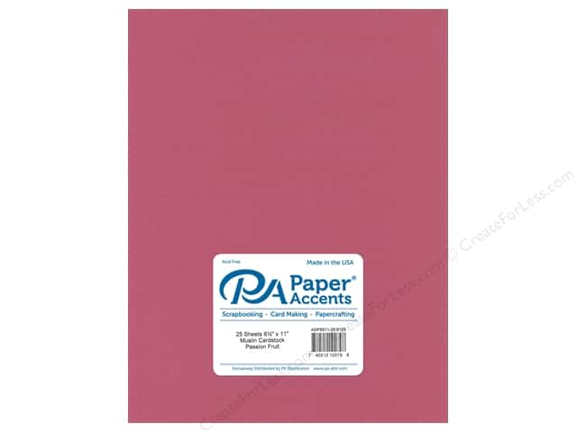 Paper Accents Cardstock 8 1/2 x 11 in. #8125 Muslin Passion Fruit (25 sheets)
