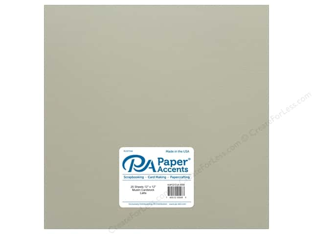 Paper Accents Cardstock 12 x 12 in. #8099 Muslin Latte (25 sheets)