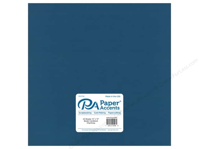 Paper Accents Cardstock 12 x 12 in. #8097 Muslin Chambray (25 sheets)
