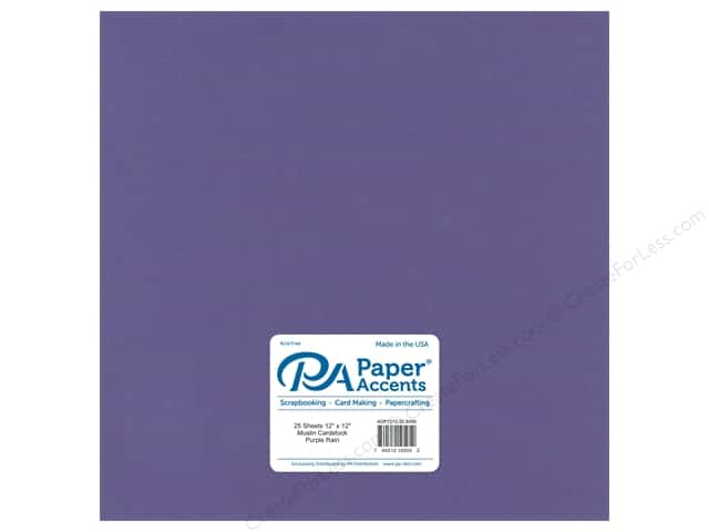 Paper Accents Cardstock 12 x 12 in. #8096 Muslin Purple Rain (25 sheets)