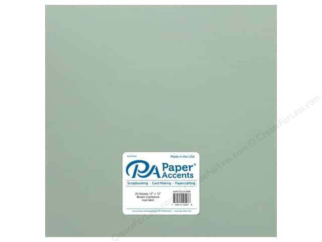 Paper Accents Cardstock 12 x 12 in. #8098 Muslin Irish Mint (25 sheets)
