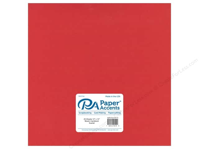 Paper Accents Cardstock 12 x 12 in. #8119 Muslin Scarlet (25 sheets)