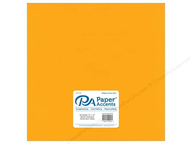 Paper Accents Cardstock 12 x 12 in. #8118 Muslin School Bus Yellow (25 sheets)