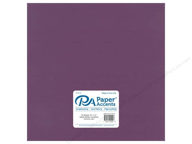 Paper Accents Cardstock 12 x 12 in. #10175 Stash Builder Concord Jam (25 sheets)