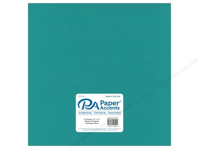 Paper Accents Cardstock 12 x 12 in. #8122 Muslin Caribbean Blue (25 sheets)