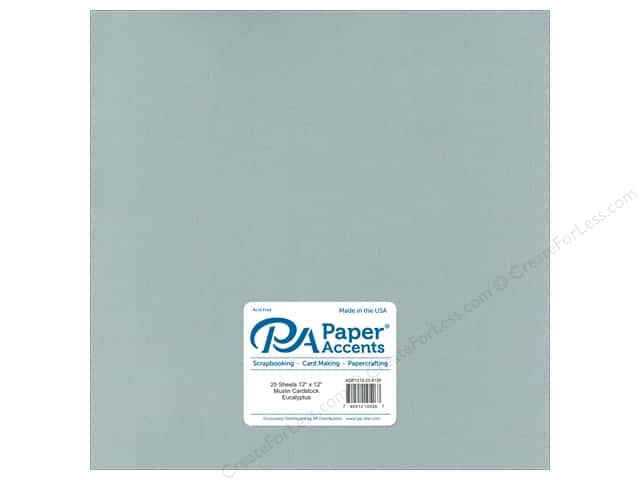 Paper Accents Cardstock 12 x 12 in. #8126 Muslin Eucalyptus (25 sheets)