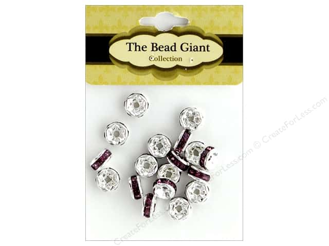 The Bead Giant Bead Disc Rhinestone 7mm Purple 18pc