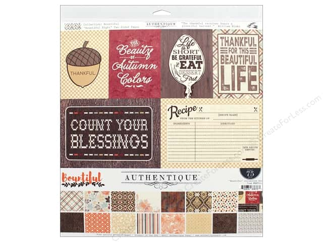 """Authentique Collection Bountiful Collection Kit 12"""" x 12"""""""