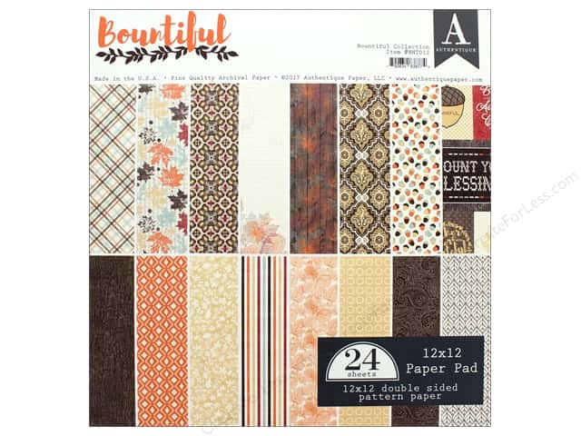 "Authentique Collection Bountiful Paper Pad 12"" x 12"""