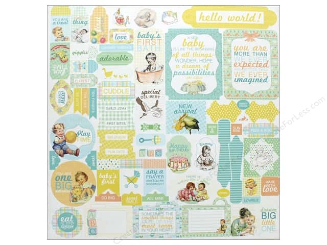 "Authentique Collection Beginnings Stickers 12""x 12"" Details (12 pieces)"