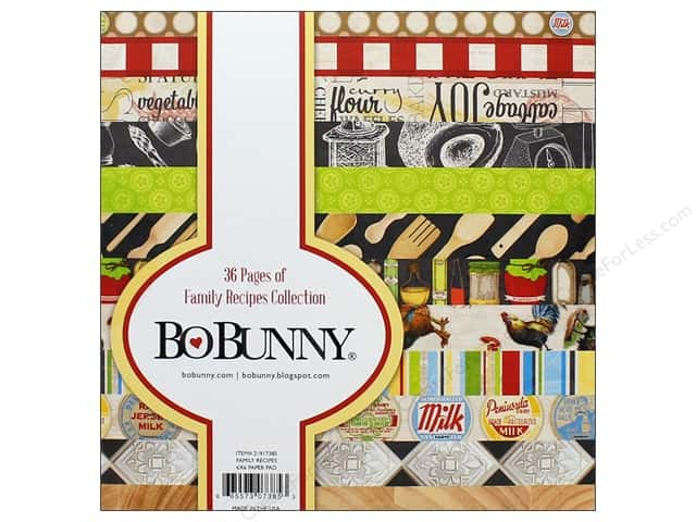 """Bo Bunny Collection Family Recipes Paper Pad 6""""x6"""""""