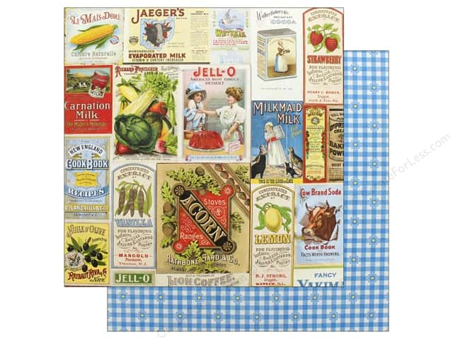 "Bo Bunny Collection Family Recipes Paper 12""x12"" Delicious (25 pieces)"