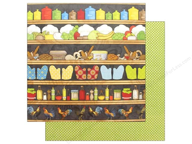 "Bo Bunny Collection Family Recipes Paper 12""x12"" Pantry (25 pieces)"