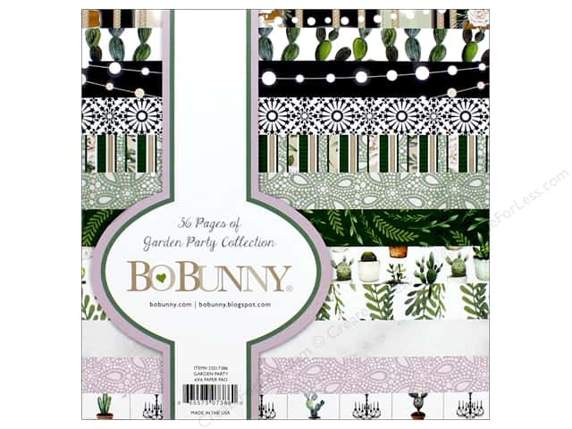 """Bo Bunny Collection Garden Party Paper Pad 6""""x 6"""""""