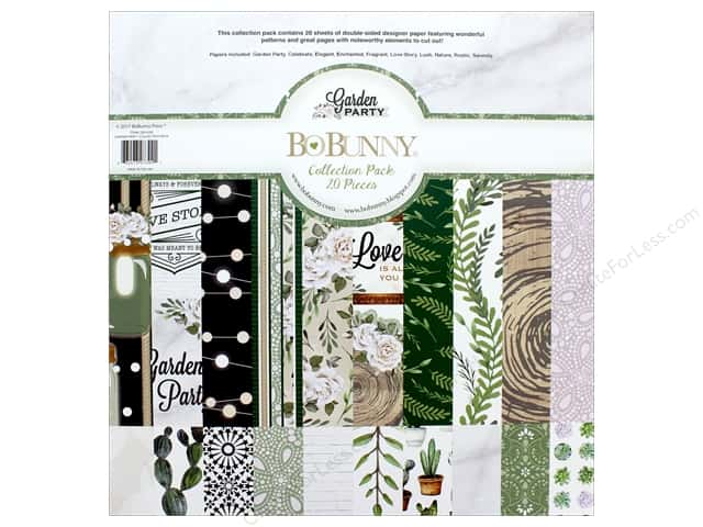 """Bo Bunny Collection Garden Party Collection Pack 12""""x 12"""""""