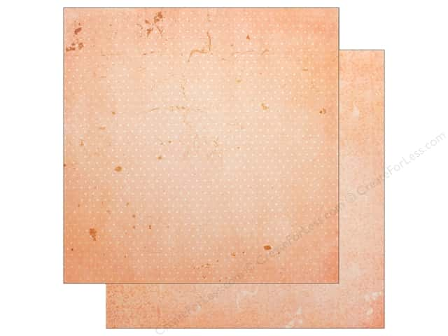 "Bo Bunny Collection Double Dot Paper 12""x 12"" Peach & Cream Vintage (25 pieces)"