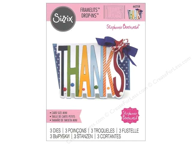 Sizzix Dies Stephanie Barnard Framelits Drop In Mini Thanks