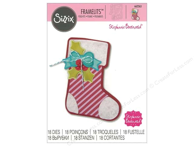 Sizzix Dies Stephanie Barnard Framelits Fold It Stocking
