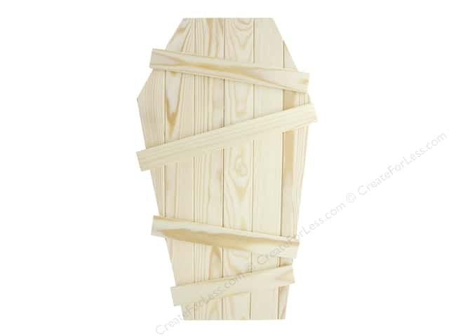 Sierra Pacific Crafts Wood Tombstone With Slanted Slats 18 in. Natural