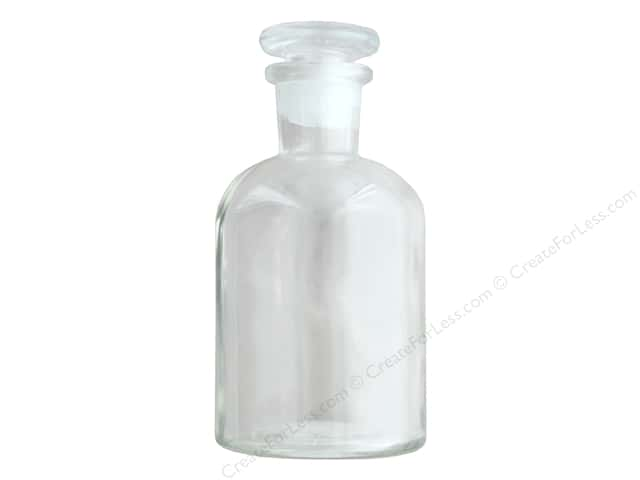 Sierra Pacific Crafts Decor Glass Bottle With Stopper Medium 4.25 in. Clear