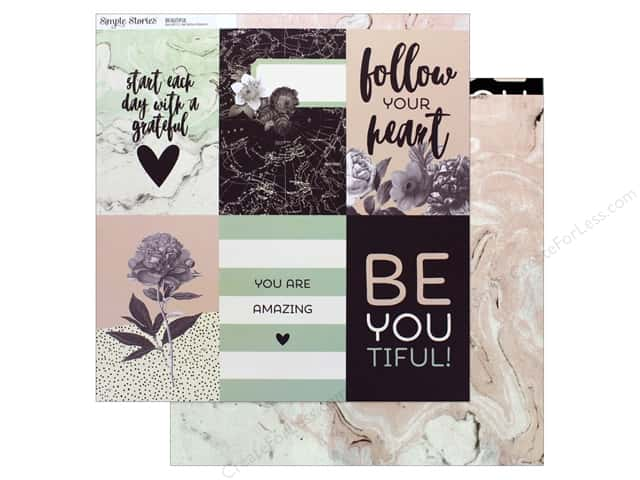"""Simple Stories Collection Beautiful Paper 12 in. x 12 in. Vertical Elements 4""""x 6"""""""