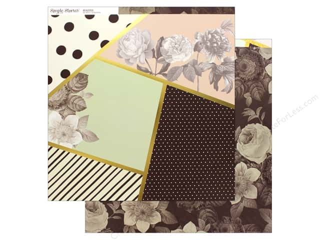 Simple Stories Collection Beautiful Paper 12 in. x 12 in. Live Beautiful