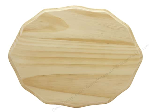 Darice Wood Plaque Unfinished Deco Oval 9 in. x 12 in.