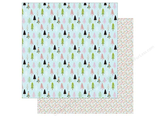 "Bella Blvd Santa Stops Here Paper 12""x 12"" Through The Woods (25 pieces)"