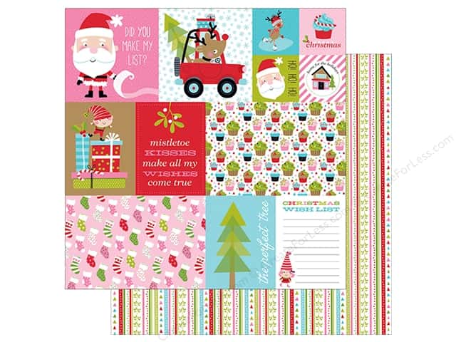 "Bella Blvd Santa Stops Here Paper 12""x 12"" Daily Details (25 pieces)"