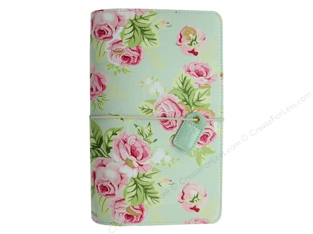 Webster's Pages Color Crush Planner Traveler Floral Mint Book Wrap